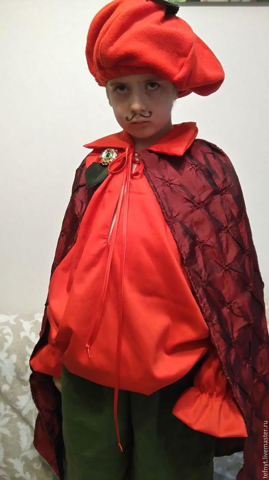Детские карнавальные костюмы ручной работы. Ярмарка Мастеров - ручная работа. Купить Сеньор Помидор. Handmade. Помидор, костюм помидорчика