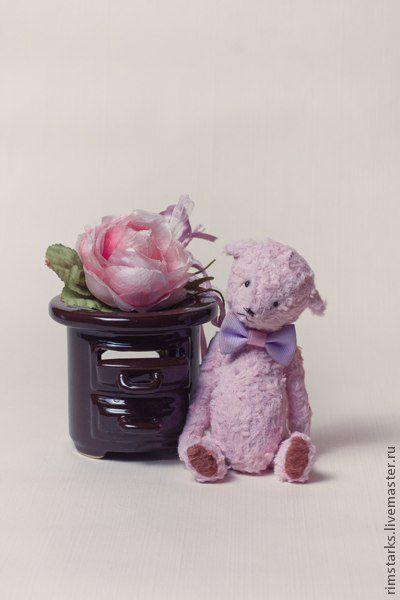 Мишки Тедди ручной работы. Ярмарка Мастеров - ручная работа. Купить Vovka teddy. Handmade. Бледно-розовый, опилки древесные