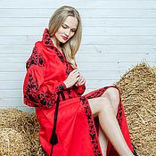 """Одежда ручной работы. Ярмарка Мастеров - ручная работа Вышитое платье """"Философия красного"""" ручная вышивка гладью. Handmade."""