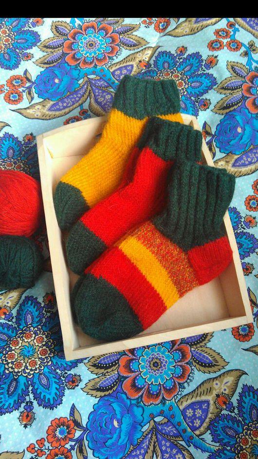 Носки, Чулки ручной работы. Ярмарка Мастеров - ручная работа. Купить Уютные шерстяные носочки. Handmade. Вязание на заказ