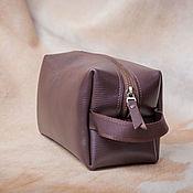 Сумки и аксессуары handmade. Livemaster - original item Handbag-cosmetic bag with zipper brown Small. Handmade.