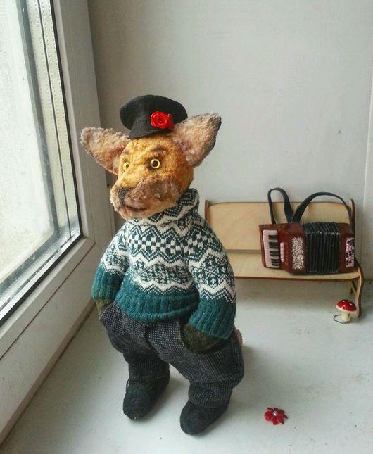 Мишки Тедди ручной работы. Ярмарка Мастеров - ручная работа. Купить Скидка -50% Лис Николай с аккордеоном. Handmade. Лис
