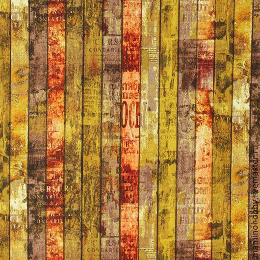 Шитье ручной работы. Ярмарка Мастеров - ручная работа. Купить Плотный хлопок 140 ширина Доски Горчица. Handmade.