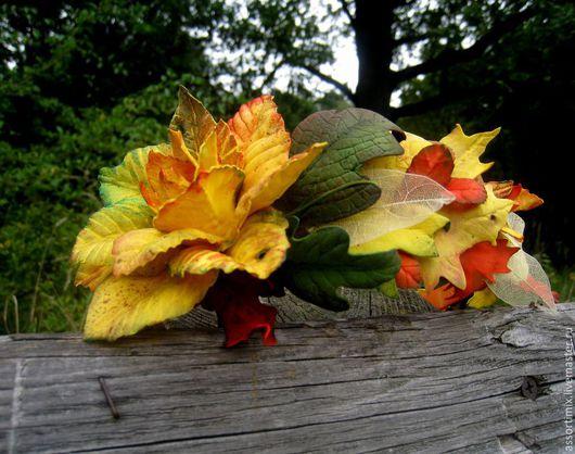 """Диадемы, обручи ручной работы. Ярмарка Мастеров - ручная работа. Купить """"Романтика осени"""" ободок. Handmade. Осень, осенний бал"""