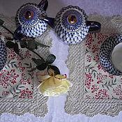 Для дома и интерьера ручной работы. Ярмарка Мастеров - ручная работа Салфетка Алые ягоды. Handmade.