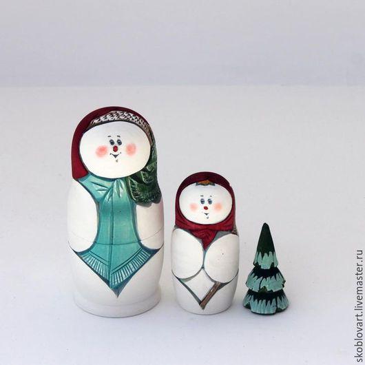 Матрешки ручной работы. Ярмарка Мастеров - ручная работа. Купить Снеговик. Handmade. Разноцветный, новый год 2015, новогодний подарок, снеговик