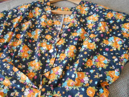 Одежда. Ярмарка Мастеров - ручная работа. Купить Платье из хлопка. Винтаж. Этикетка.. Handmade. Комбинированный