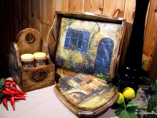 Кухня ручной работы. Ярмарка Мастеров - ручная работа. Купить Набор для кухни Villaggio. Handmade. Набор для кухни, декор для дачи