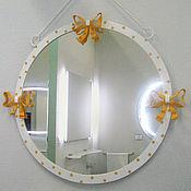 """Для дома и интерьера ручной работы. Ярмарка Мастеров - ручная работа Кованое зеркало """"Кокетка"""". Handmade."""
