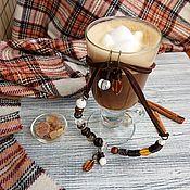 Украшения ручной работы. Ярмарка Мастеров - ручная работа Айриш кофе. Колье и серьги.. Handmade.