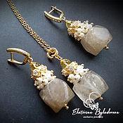 Украшения handmade. Livemaster - original item Jewelry sets: quartz with pearls
