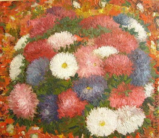Картины цветов ручной работы. Ярмарка Мастеров - ручная работа. Купить Цветочный ковер. Handmade. Ярко-красный, цветы