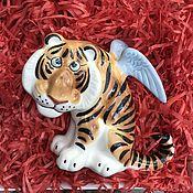 Сувениры и подарки handmade. Livemaster - original item Tiger with wings - Symbol of the Year 2022 Figurine. Handmade.