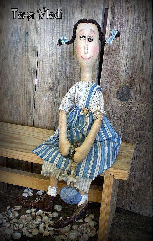 Человечки ручной работы. Ярмарка Мастеров - ручная работа. Купить Маруся из Гурзуфа. Handmade. Примитивы, примитивная игрушка, ракушка