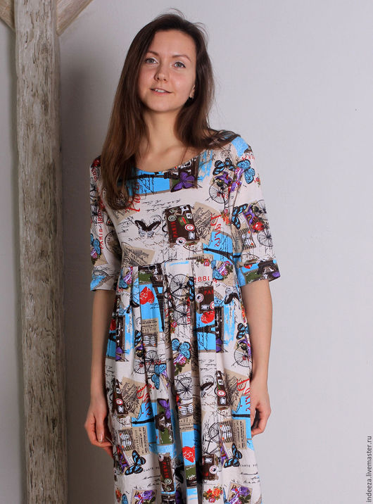 """Платья ручной работы. Ярмарка Мастеров - ручная работа. Купить Платье """"Весна в Париже"""". Handmade. Комбинированный, милое платье"""