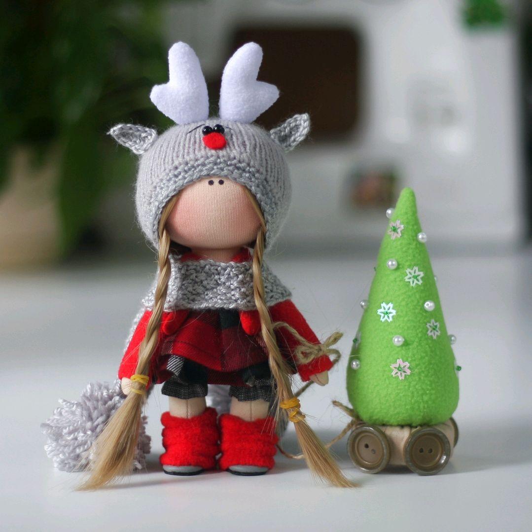 Кукла интерьерная текстильная, Тыквоголовка, Москва, Фото №1