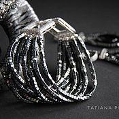 Украшения handmade. Livemaster - original item Boudoir bracelet, hematite, silver, cubic zirconia.. Handmade.