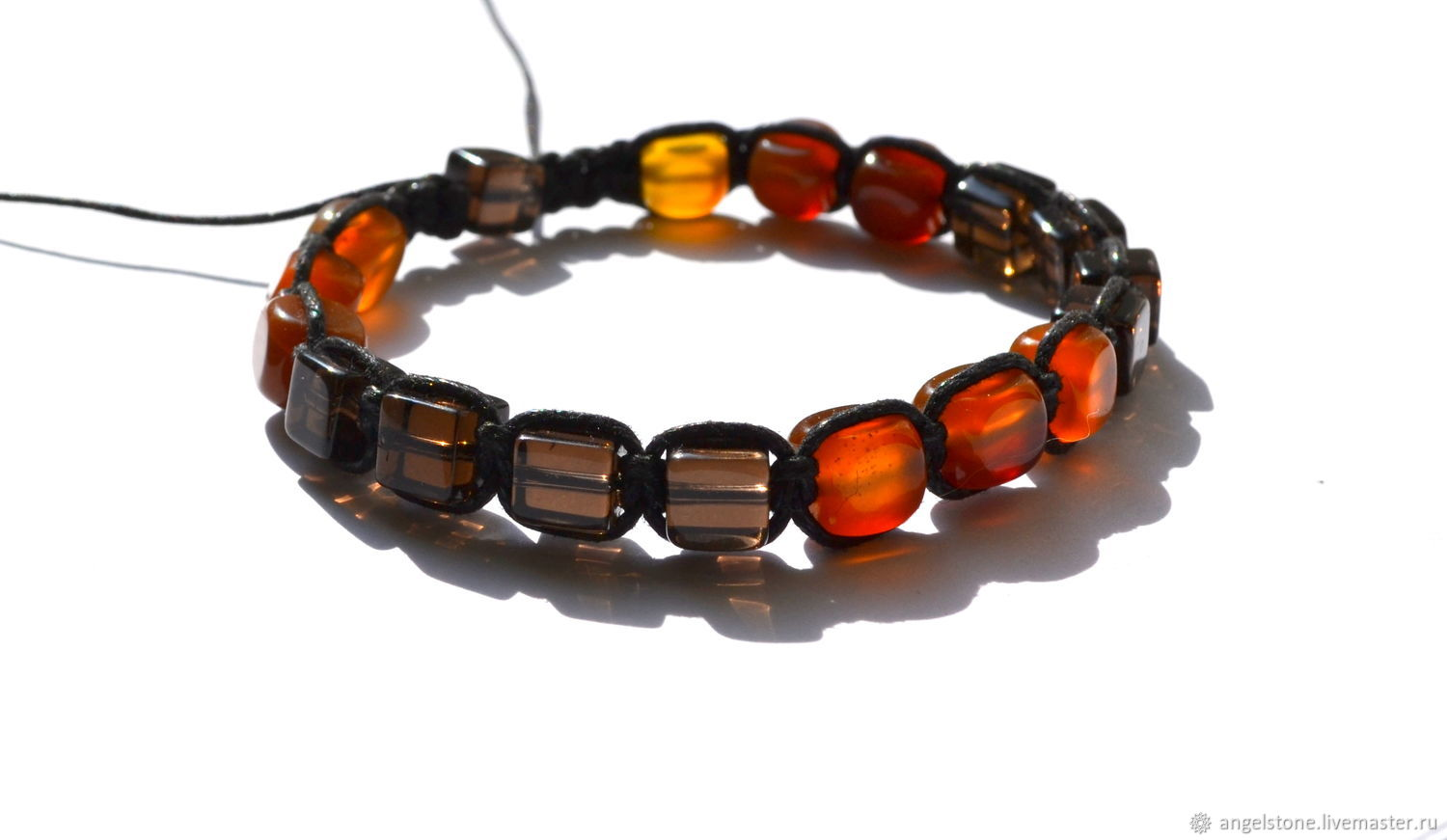 Charms, Talismans & Amulets handmade. Livemaster - handmade. Buy Carnelian and smoky quartz bracelet the Power of life.