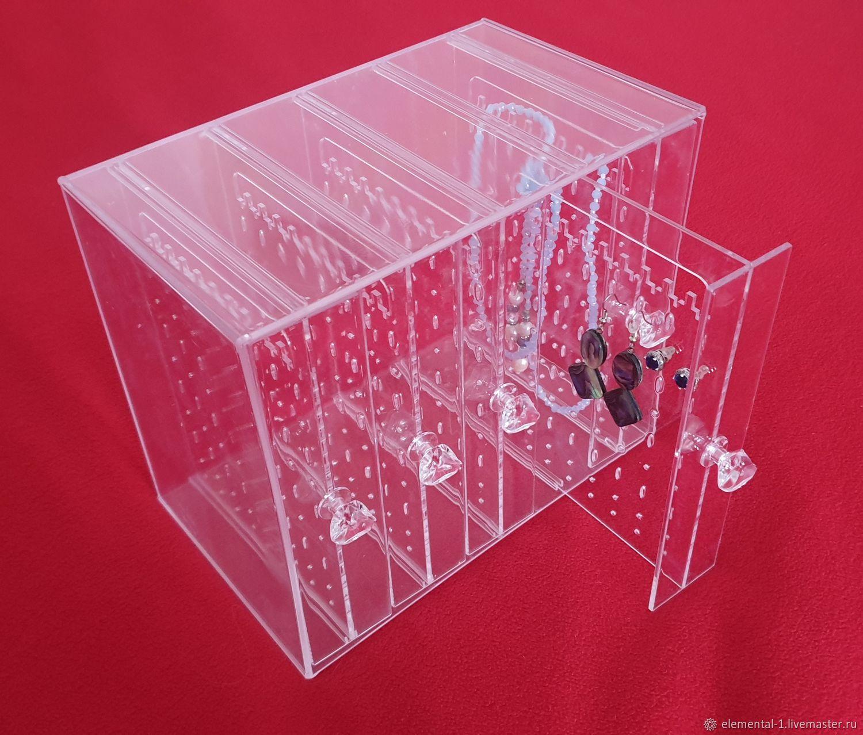 Коробка - Органайзер для сережек и цепочек на 5 отделений, Органайзеры, Москва,  Фото №1