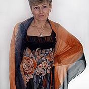 """Одежда ручной работы. Ярмарка Мастеров - ручная работа """"Бархатный сезон"""" - сарафан+шарф - батик из крепдешина бохо. Handmade."""