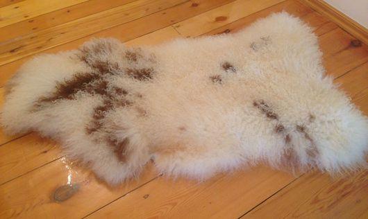 Текстиль, ковры ручной работы. Ярмарка Мастеров - ручная работа. Купить Овчина с мелкими кучеряшками. Handmade. Шкурки, коврик, белый