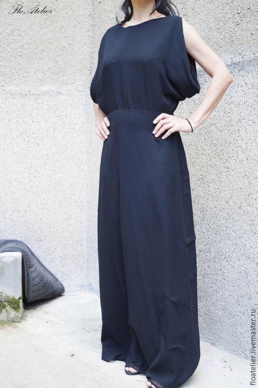 Платья ручной работы. Ярмарка Мастеров - ручная работа. Купить Платье с открытой спиной/Летнее платье/F086. Handmade. Черный, моданя одежда