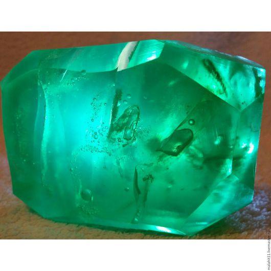 Мыло ручной работы. Ярмарка Мастеров - ручная работа. Купить Кристальная свежесть. Изумруд.. Handmade. Зеленый, натуральное мыло