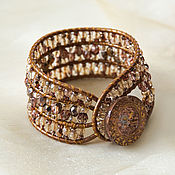 Украшения handmade. Livemaster - original item Wide cuff bracelet Sparkling cuff bracelet in Chan Lu style. Handmade.