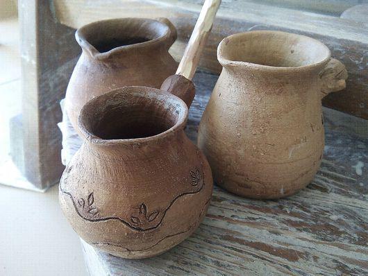 Кухня ручной работы. Ярмарка Мастеров - ручная работа. Купить Турка гончарная керамика. Handmade. Керамика, экопосуда, голубая глина