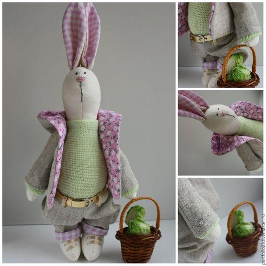 Дизайн интерьеров ручной работы. Ярмарка Мастеров - ручная работа. Купить Пасхальные кролики персонаж Борис. Handmade. Дизайн интерьера