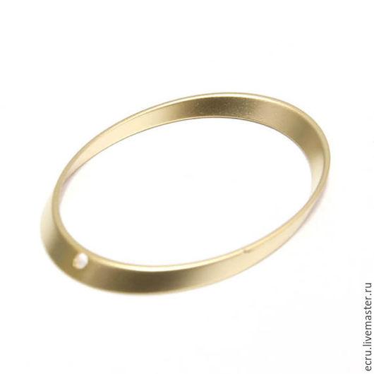 Коннектор кольцо 35 мм, позолоченное, фурнитура Южная Корея