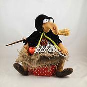 Куклы и игрушки ручной работы. Ярмарка Мастеров - ручная работа Баба-Яга  в черненьком). Handmade.