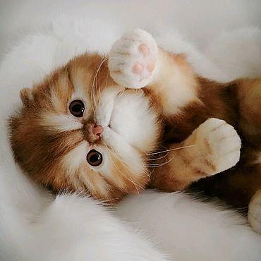 Куклы и игрушки ручной работы. Ярмарка Мастеров - ручная работа Реалистичная игрушка персидский котенок по кличке Марсик. Handmade.