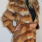 Одежда handmade. Livemaster - original item The coat of Fox poperechka fitted. Handmade.