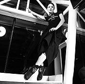 """Одежда ручной работы. Ярмарка Мастеров - ручная работа Теплая юбка """"Геометрия"""" - черная. Handmade."""