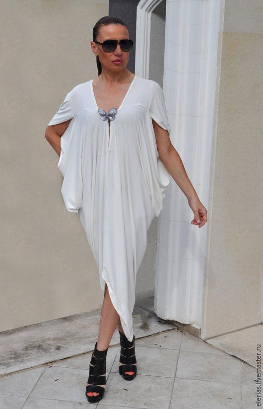 Купить платье. Белое платье. Стильное платье. Платье из хлопка.
