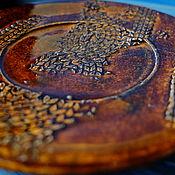 """Посуда ручной работы. Ярмарка Мастеров - ручная работа Чайная пара """"Старинная вязка"""". Handmade."""