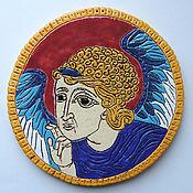 Картины и панно ручной работы. Ярмарка Мастеров - ручная работа Ангел света (керамическое панно). Handmade.