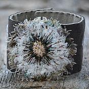 Украшения handmade. Livemaster - original item Textile bracelet dandelion Time. Handmade.