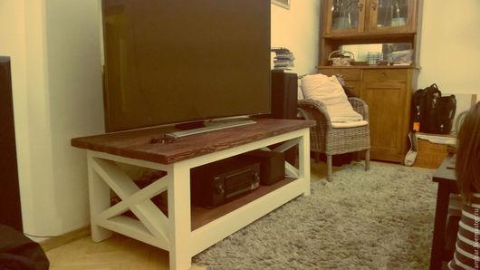 """Мебель ручной работы. Ярмарка Мастеров - ручная работа. Купить ТВ-тумба """"Woody"""". Handmade. Стол, рустикальный стиль, сосна"""