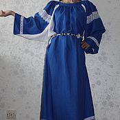 """Одежда ручной работы. Ярмарка Мастеров - ручная работа Льняное платье """"Beautiful line"""". Handmade."""