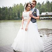 Одежда ручной работы. Ярмарка Мастеров - ручная работа Юбка и топ - свадебное раздельное платье. Handmade.