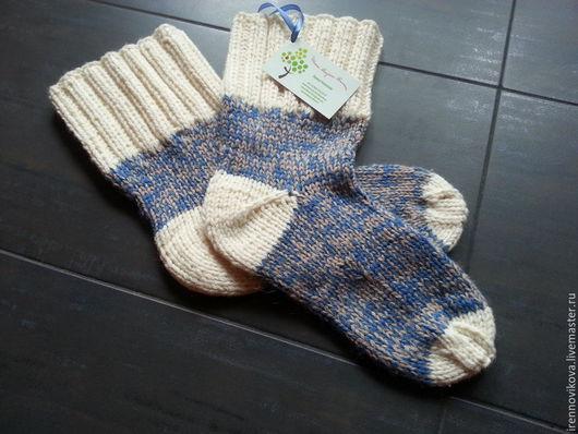 Носки, Чулки ручной работы. Ярмарка Мастеров - ручная работа. Купить Носки мужские, вязаные спицами. Handmade. Носки