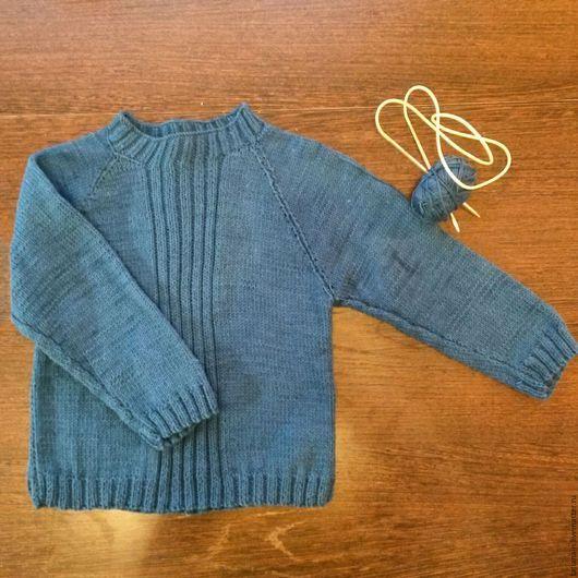 Кофты и свитера ручной работы. Ярмарка Мастеров - ручная работа. Купить Свитер для мальчика. Handmade. Синий, одежда для детей, свитер