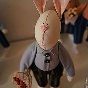 Куклы и игрушки ручной работы. Ярмарка Мастеров - ручная работа Zаяц. С букетом.. Handmade.