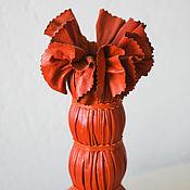 Для дома и интерьера ручной работы. Ярмарка Мастеров - ручная работа оранжевая ваза. Handmade.