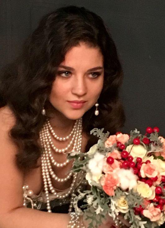 Роскошные Украшения для невесты на свадьбу колье жемчужное ожерелье купить в Москве в интернете