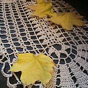 Для дома и интерьера ручной работы. Ярмарка Мастеров - ручная работа Вязаная овальная салфетка в винтажном  стиле  Созерцание. Handmade.