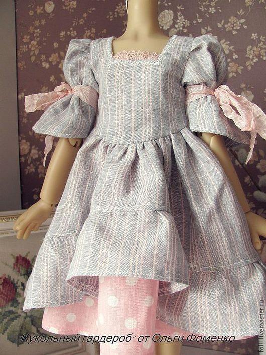 Одежда для кукол ручной работы. Ярмарка Мастеров - ручная работа. Купить Платье на куклу БЖД (  MCD) 42-45 см №21. Handmade.