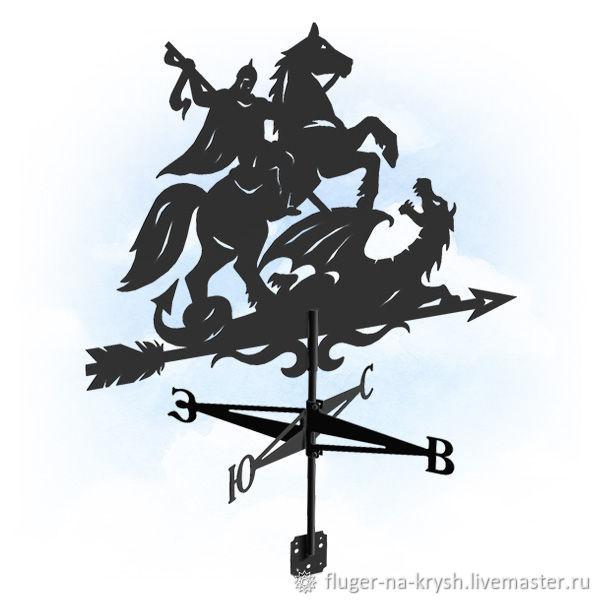 Флюгер на крышу. Черный стальной флюгер, Флюгер, Барнаул,  Фото №1